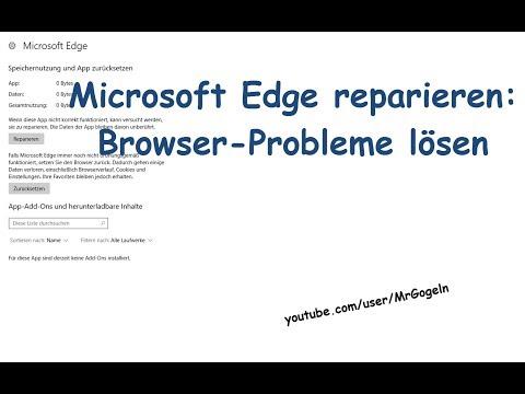 Microsoft Edge reparieren