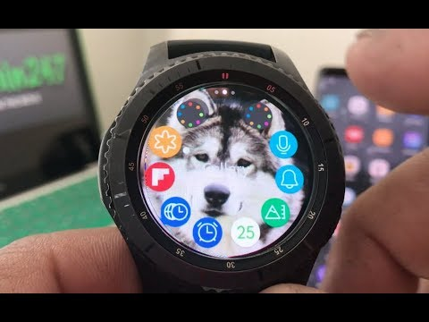 How To Put Custom Wallpaper On Your Gear S3!