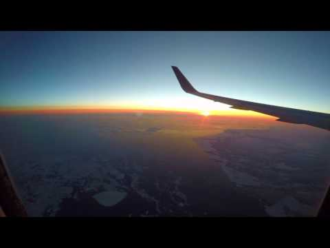 Time lapse: Portland, Oregon USA to London Heathrow - 4K