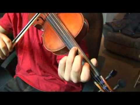 Violin A Harmonic Minor Scale: 4th Scale Degree