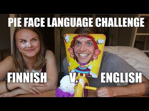 Pie Face Language Challenge: Finnish v. English