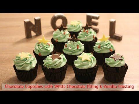 Christmas Tree Chocolate Cupcakes - Easy recipe video