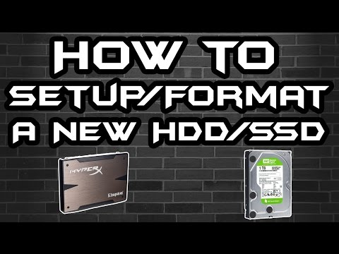 How To Setup/Format a SSD/HDD (Windows 7)
