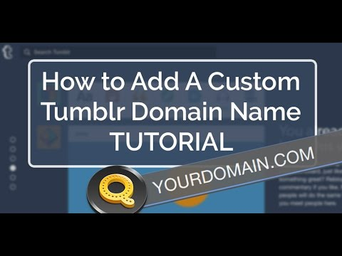 How to Add A Custom Tumblr Domain Name? Modifying DNS Settings w/ GoDaddy | Tutorial via Quiksnip
