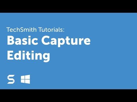 Snagit 13: Basic Capture Editing