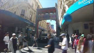 Time Lapse of Melbourne Pedestrian Zone Intersection