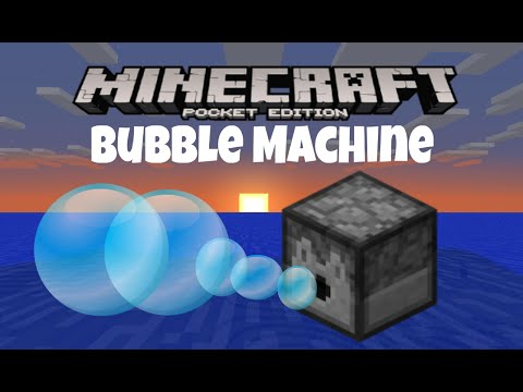 MCPE:How To Make A Bubble Machine! (Easy)