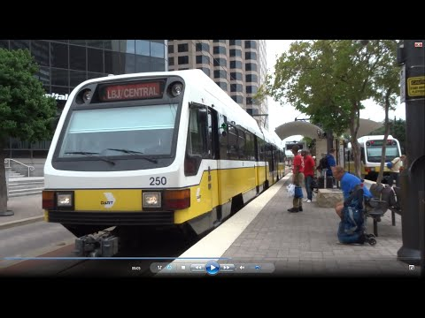 Downtown Dallas Pearl Arts Station - DFW Airport on DART Rail service 2016-05-14