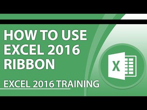 Microsoft Excel 2016 Tutorial: How to Use the Excel 2016 Ribbon