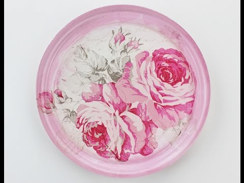 Decoupage glass plate - Fast & Easy Tutorial - DIY
