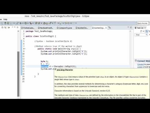 Java Tutorial - isDigit() method to find if the character is a DIGIT