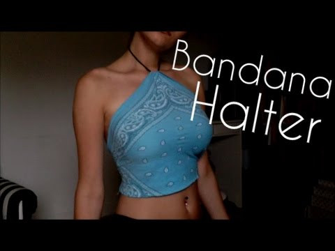 DIY Bandana Halter Top