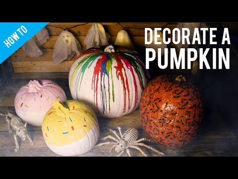 3 Ways to decorate a pumpkin