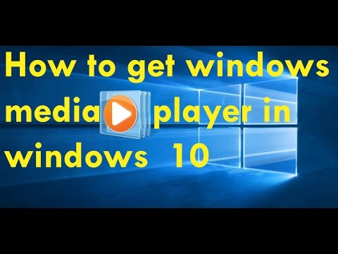 how to install windows media player in windows 10 | install free Windows media player for free