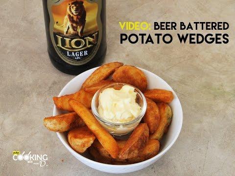 Beer Battered Potato Wedges Recipe