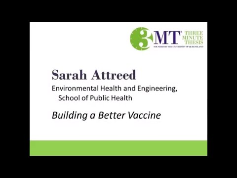 2018 Three Minute Thesis Third Place Winner – Sarah Attreed – Building a Better Vaccine