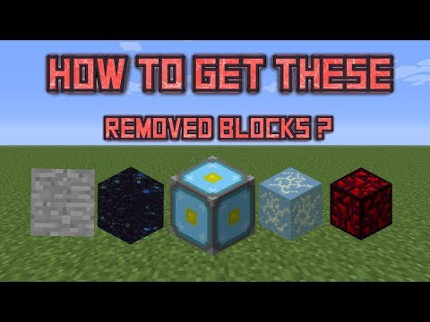 How to get minecraft banned items(nether reactor core,invisible bedrock,glowing obsidian,ender gate)