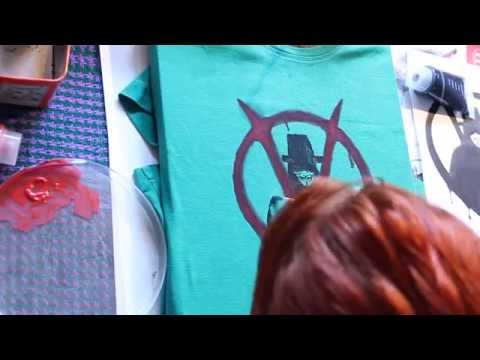 How to paint your t-shirt ( acrylic handmade painting) time lapse