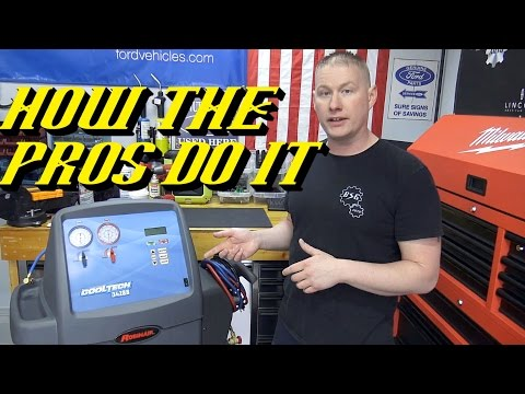 How Professionals Recover & Recharge Your Vehicles A/C System