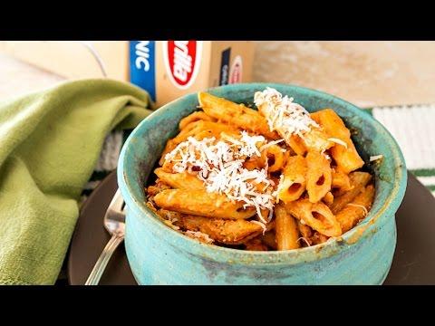Easy Creamy Marinara Sauce with Barilla Organic Pasta