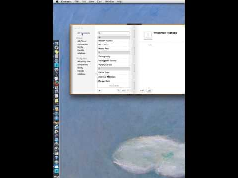 How to manage address book contacts on MAC
