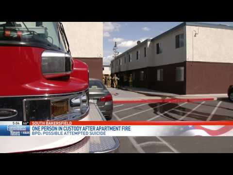 Police: Man in custody, suspected of starting fire in possible suicide attempt