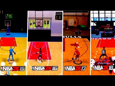 NBA 2K: The Evolution of MyCourt in NBA 2K... (NBA 2K15-NBA 2K18)
