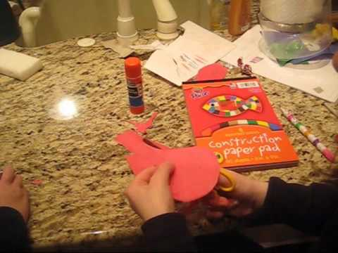 Ally's Creations Crafts for Kids Episode 3 Part 1 - Phillies Baseball Team Craft