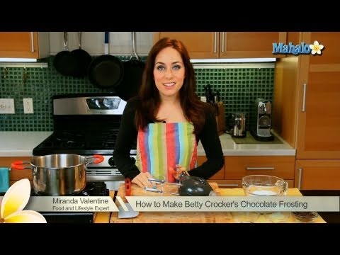 How to Make Betty Crocker's Chocolate Frosting