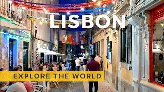 🇵🇹 Walking in LISBON, Portugal   Bairro Alto Night Tour   4K HDR 60fps