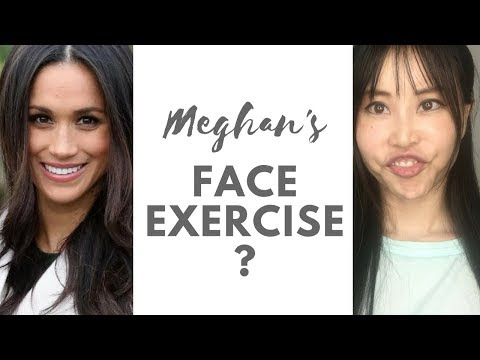 Meghan Markle does face exercise! Lift up your cheekbones like hers.