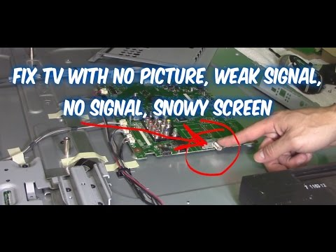 Easy ways how to fix a TV with no picture, snowy tv screen, no signal, weak signal