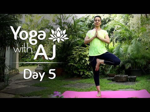 Yoga For Balance And Strength | Day 5 | Yoga For Beginners - Yoga With AJ