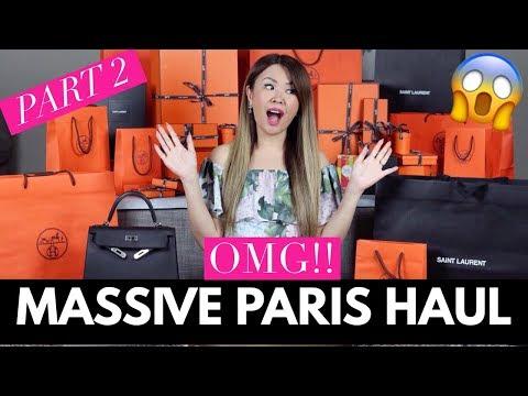 OMG!! MASSIVE PARIS UNBOXINGS/HAUL   HERMES, YSL - PART 2