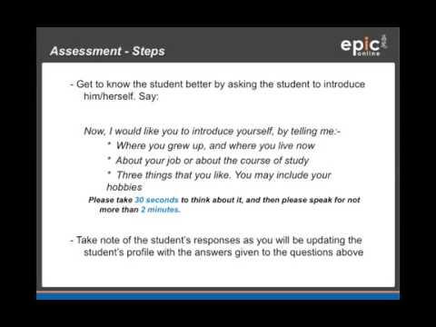 EPiC Online - Assessment Certification