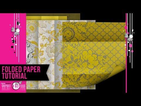 Digital Scrapbook Paper Tutorial - Digital Scrapbook Paper Folded Paper Effect