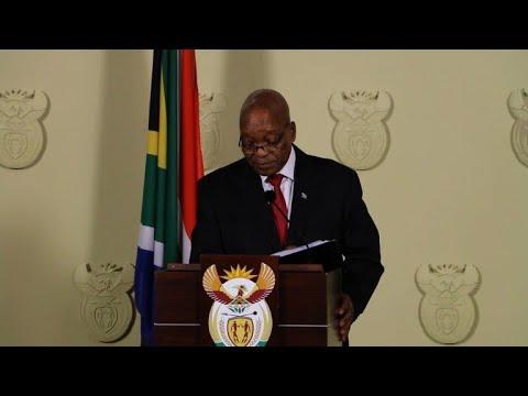 S.Africa's Zuma announces resignation 'with immediate effect'