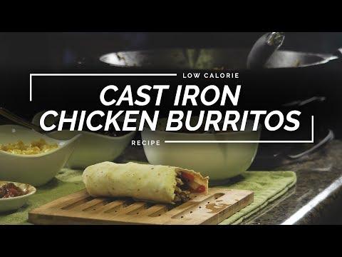 Chipotle Chicken Burritos | Cast Iron Chicken Recipe
