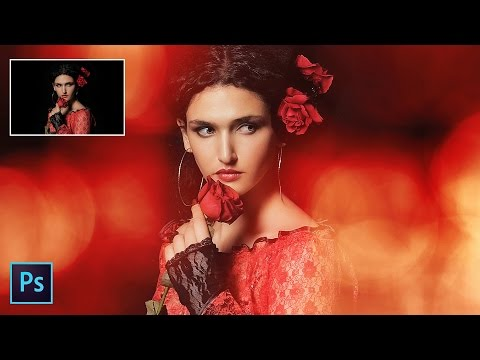 How to Add Front Light Bokeh to Portraits in Photoshop - Creating Foreground Bokeh Effects