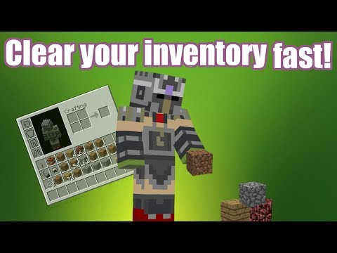 Minecraft - How to drop stacks of items without dragging!