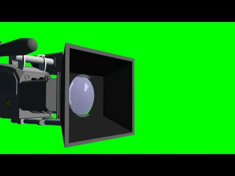 HDTV Camera in different views - green screen effects