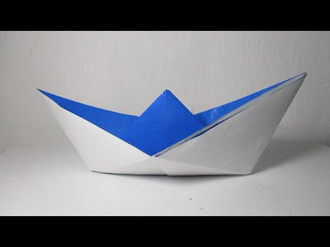 Origami Boat - How To Make A Simple Origami Boat That Floats # 3