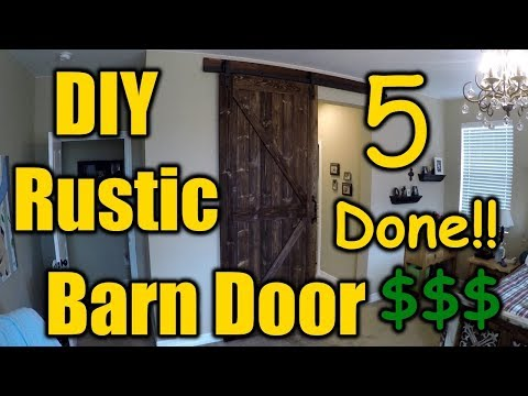 How To Build A Rustic Barn Door 5 Done! | THE HANDYMAN |