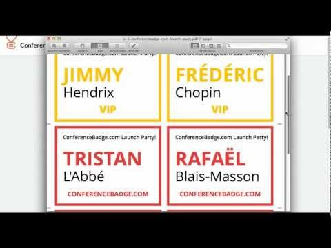 How To Create More Than One Name Badge Design For The Same Event