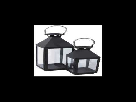 Garden and home furniture decoration terraced metal candle lantern with glass panels