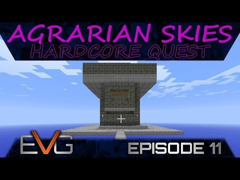 FTB SKYBLOCK | Agrarian Skies: Hardcore Quests Ep.11 | Drawbridge Mob Spawner
