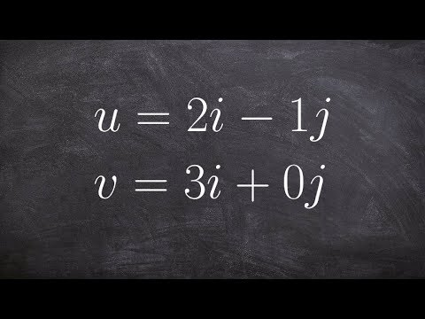 Pre-Calculus - Finding the angle between two vectors u and v