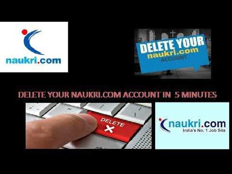 Final trick found to delete your  Naukri .com account less than 5 Minuts