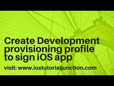 How to create a development provisoing profile in ios app development using apple developer portal