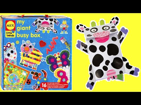 ALEX Toys My GIANT BUSY BOX CRAFT KIT Unboxing - MU MU Cow